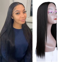 Blice Long Straight Synthetic Wigs Natural Middle Part Lace Wig Futura Natural Looking Hand Line for Women African American Wigs
