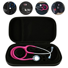 Portable Medical Stethoscope EVA Storage Bag Big Mesh Pockets For Accessories Waterproof Anti-shock Hard Case Pouch