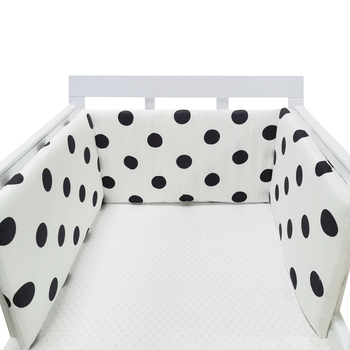 baby nursery Nordic Stars Design Baby Bed Thicken Bumper One-piece Crib Around Cushion Cot Protector Pillows Newborns Room Decor 14