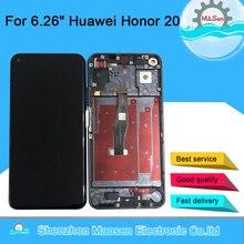 """6.26 """"המקורי M & סן עבור Huawei Honor 20 LCD תצוגת מסך עם מסגרת + לוח מגע Digitizer עבור נובה 5T תצוגת הרכבה"""