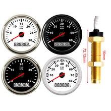 85MM de ancho con Sensor de tacómetro M16 para la gasolina del motor Diesel del tacómetro 3KRPM 4KRPM 6KRPM 8KRPM con contador de horas de servicio luz trasera roja