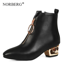 New Classic Women Ankle Boots autumn Female Snow Casual shoes Thick Heel Suede Warm Fur Plush Shoes Booties