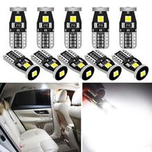 10X W5W T10 Lâmpada LED Para Peugeot 308 307 206 407 3008 207 2008 508 208 406 5008 SUV 4008 Acessórios Car Interior Luz de Leitura