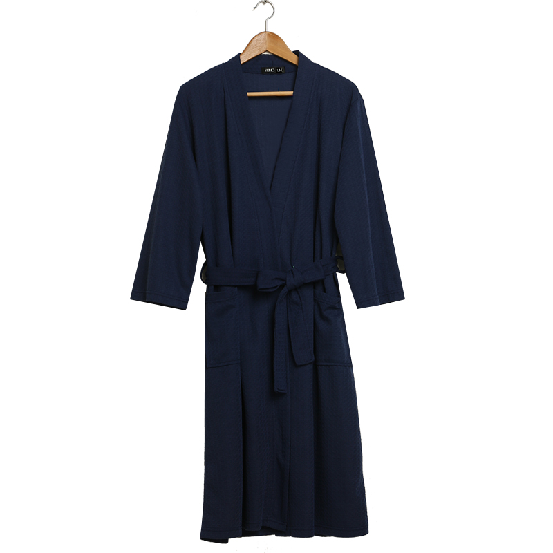 Nightgown Loose Pajamas Autumn And Winter Robe De Nuit Men's Waffle Robes Pajamas Home Service Bathrobes Absorbent And Quick-dry