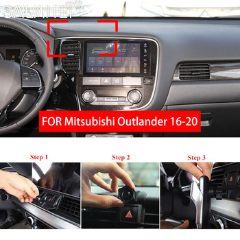 Car Mobile Phone Holder For Mitsubishi Outlander MK3 2016~2020 Telephone Stand Bracket Air Vent Mount Cradle Bracket Accessories image