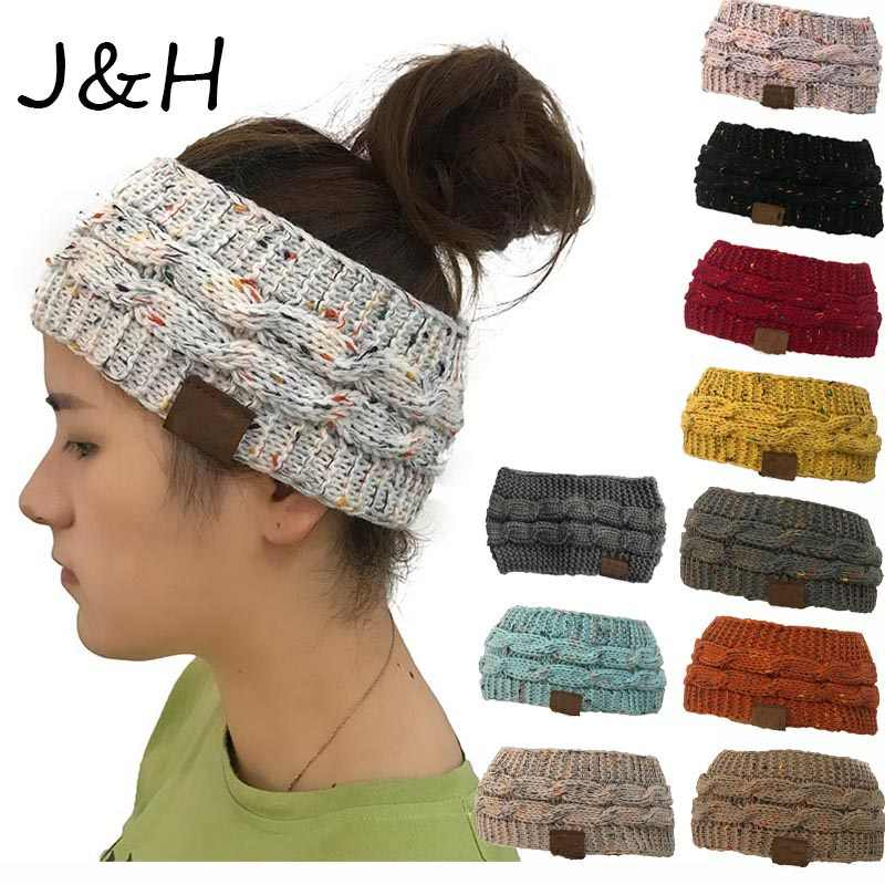 New Hot Knitted Crochet Twist Hat For Women's Winter Ear Warmer Elastic Turban Hair Accessories Beanie Hat Drop Shipping