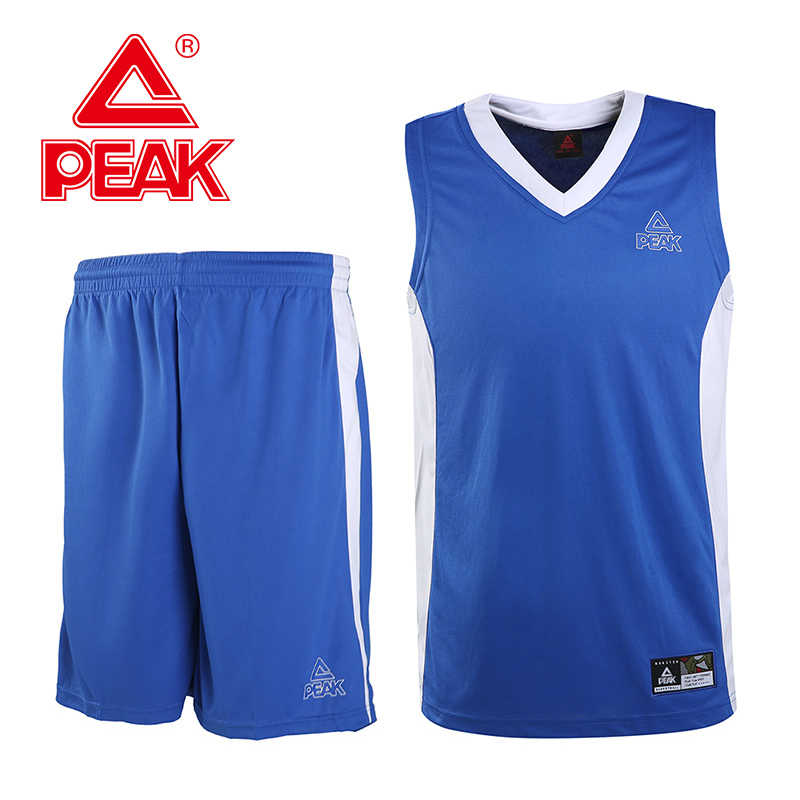 Peak Men Basketball Clothing Suit Breathable Quick-Drying Basketball Training Sets Moisture Wicking Sportswear 2PCS
