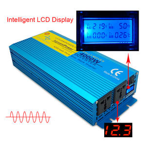 Sine-Wave-Inverter 4000W AC 110V/220V 12V/24V To Pure DC with Lcd-Display OUT Digital-Screen