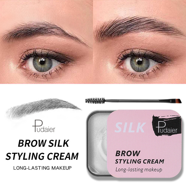 3D Feathery Eyebrow Cosmetic Gel Enhancer Balm Styling  Eyebrows Tint Pomade Waterproof Brows Long Lasting Natural Makeup TSLM1 1