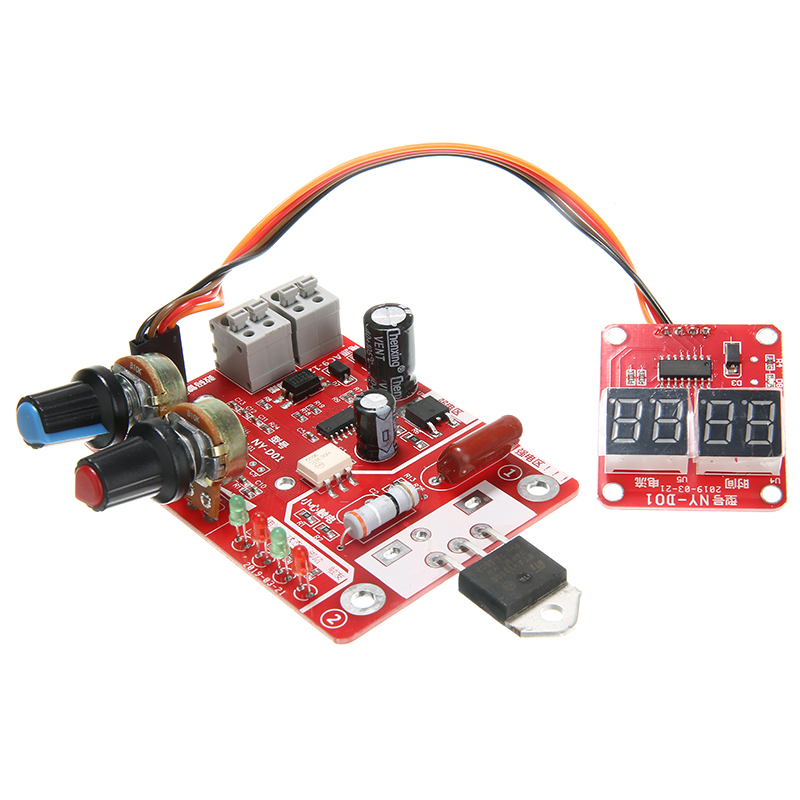 New Spot Welder Machine Time Control 40A Electronic Controller Digital Display Controller Weld Module Board For Welders