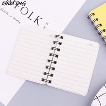 Smiling Face Daily Office Supplies Planner Spiral Notebook Diary Memo Notepad newest office supplies student memo pads high grade notebook ballpoint pen combination diary notepad notebook for boys and girls
