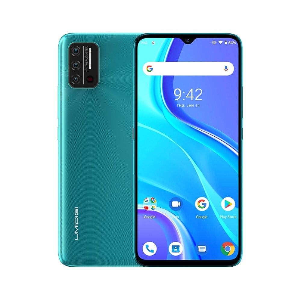 UMIDIGI A7S هاتف ذكي بشاشة كاملة مقاس 6.53 بوصة داخل الخلية 209 كبيرة 2 + 32 جيجابايت 4150 مللي أمبير/ساعة هاتف ثلاثي هاتف يعمل بنظام الأندرويد 10 MTK6737 رباعي النواة