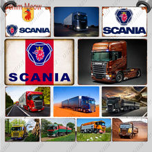 Scania Metalen Bord Plaque Vintage Heavy Truck Emaille Bord Retro Muur Poster Voor Garage Bar Pub Man Cave Sticker home Decor WY116(China)