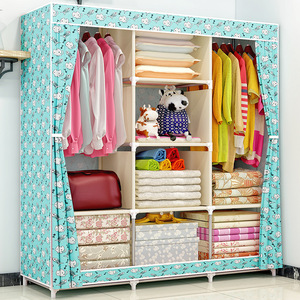 Image 4 - COSTWAY Cloth Wardrobe For clothes Fabric Folding Portable Closet Storage Cabinet Bedroom Home Furniture armario ropero muebles