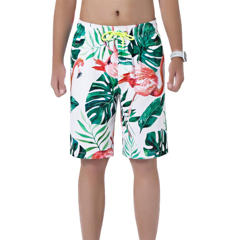 Cute Funny red Flamingos Party Man Summer Surfing Shorts Breathable Casual Swim Short