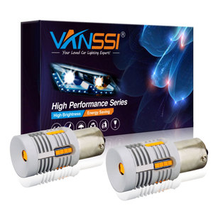 VANSSI 2x 7507 Bau15s PY21W LED Turn Signal Light Bulb Built-in Resistor Canbus Error Free No Hyper Flash 2800lm Amber Yellow(China)