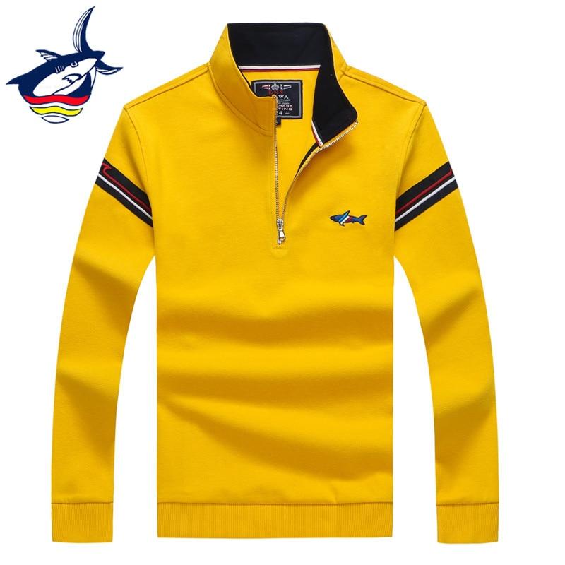 European Style High Quality Tace & Shark Brand Men's Sweater Half Zipper Turtleneck Sweater Pullover Men Woolen Knitted Sweaters