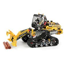 Loader Motor RC Car Tracked Loader Set Compatible With legoing 42094 Building Blocks Bricks Kids Christmas Toys(China)