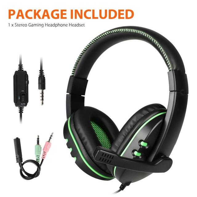 For PS4 Gaming Headset Stereo Sound Headphone 3.5mm Gaming Headset With Mic Volume Control For Nintendo Switch/Xbox One/PC/Phone 6
