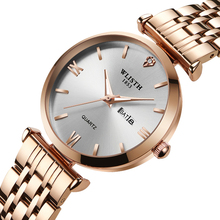 WLISTH 2019 Women Watches Fashion Casual woman Top Brand Luxury Ladies Wrist Watch womens Golden Silver Steel Female Clock