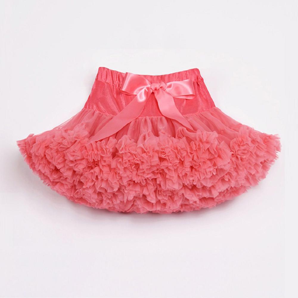 Юбка для маленьких девочек; детская Пышная юбка-американка для девочек; винно-красная юбка-пачка; детская юбка; пышная юбка-пачка для маленьких девочек; - Цвет: coral