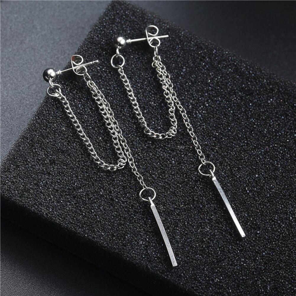 Newest Punk Minimalist Metal Chain Earrings Geometric Retro Round Tassel Earrings For Women Charm Fashion Ear Jewelry Best Gifts