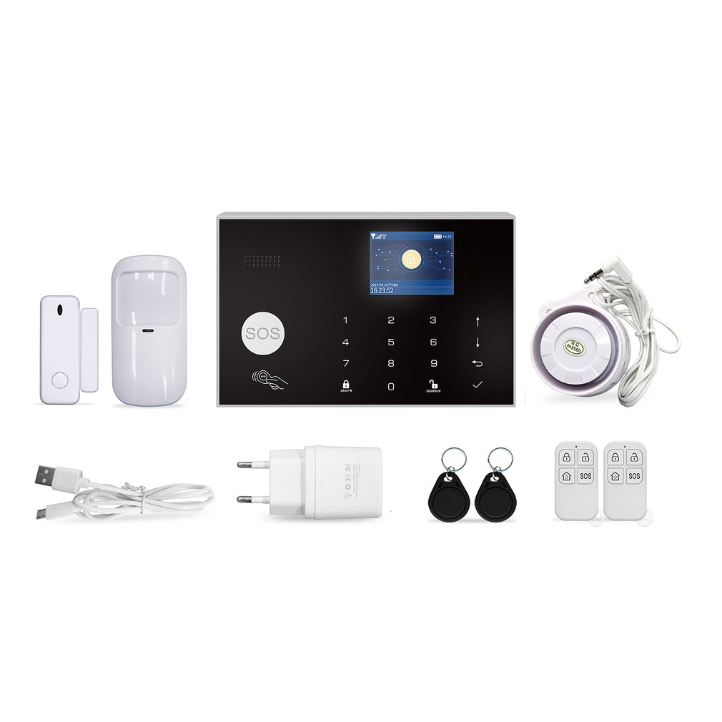Wireless GSM Alarm System Wifi For Tuya Alarm Intercom Remote APP Control Autodial 433MHz Detectors For IOS For Android