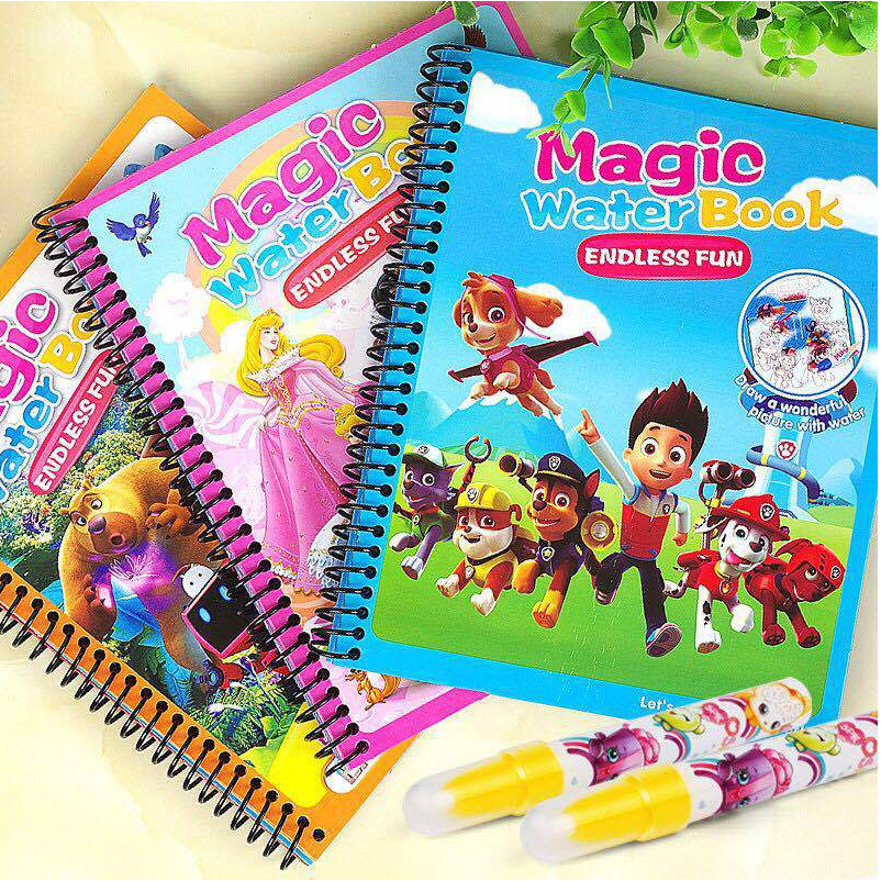 14 Kinds of Magic Water Educational Drawing Book Coloring Book & Magic Pen Painting Drawing Board For Kids Toys Birthday Gift