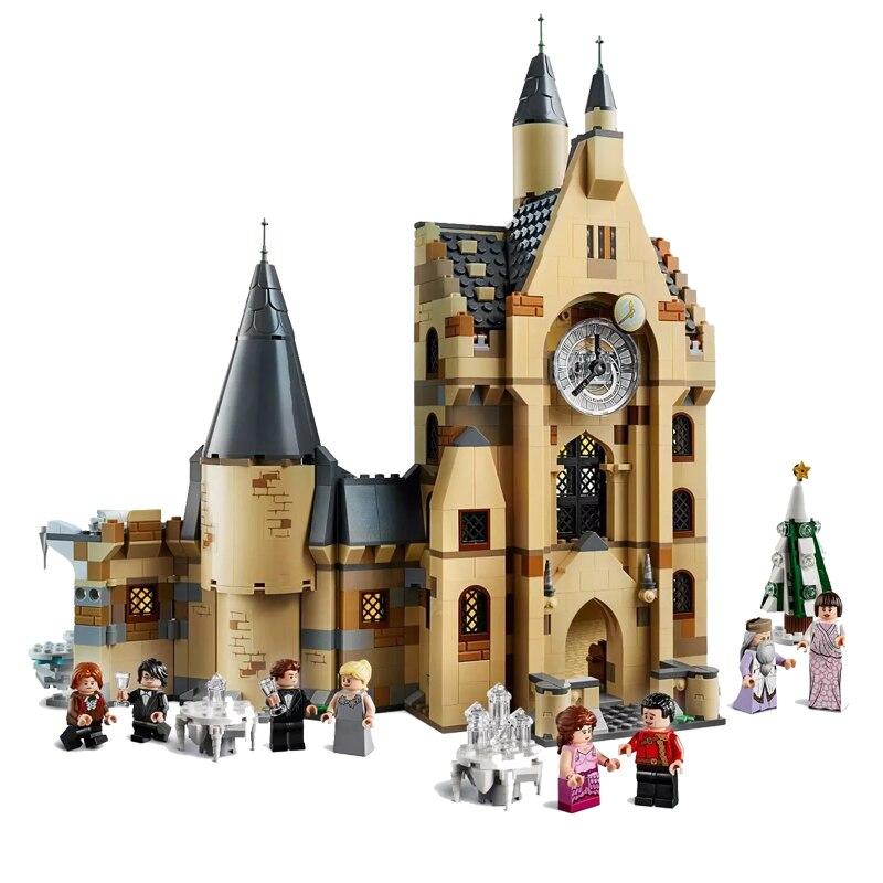New Magic Toys Hogwartsingly Clock Tower Compatible Harri 75948 75954 Building Blocks for Children Christmas Gifts
