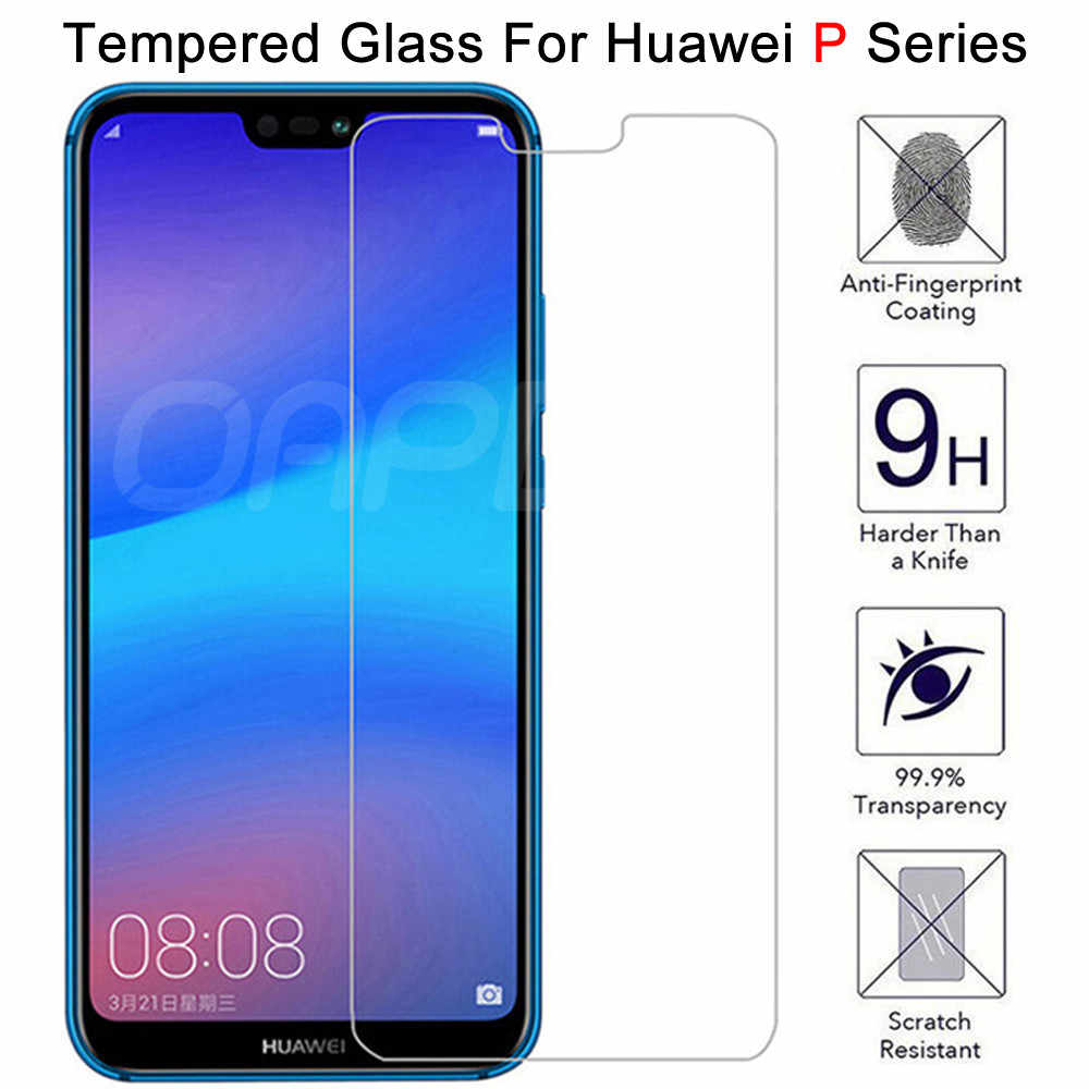 9H Protective Glass on the For Huawei P30 Lite P20 Pro P20 P10 Lite Plus P Smart 2019 Tempered Screen Protector Glass Film Case