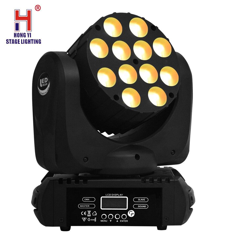 12x12W RGBW 4in1 LED foco con cabezal móvil color mezclando efecto estroboscópico para Disco Fiesta de DJ Proyector de cielo estrellado colorido, lámpara de rotación de luz nocturna, Noche De Luna estrellado, carga USB para regalo de cumpleaños, bebé romántico para niños