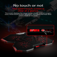 Laptop cooler cooling pad with 5pcs Fans LED Screen USB Adjustable Notebook Stand for macbook air/pro 12 13 14 15.6 17