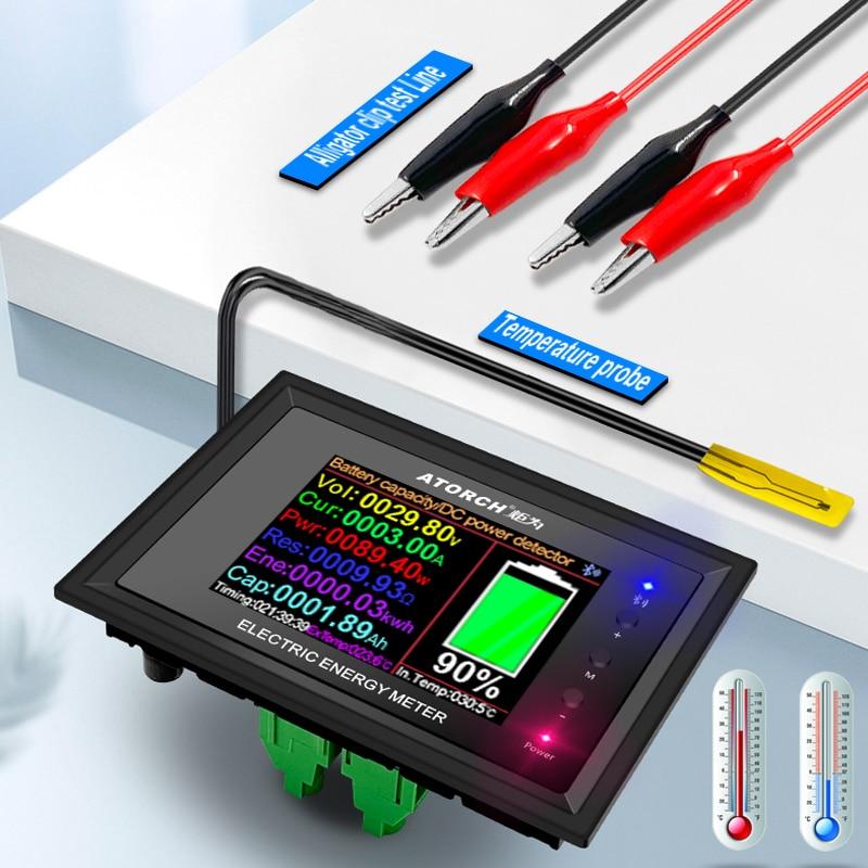 DT24 HD IPS Bluetooth Digital Display DC Power APP Voltmeter Ammeter Battery Capacity Tester Fuel Gauge Voltage Detector Meter