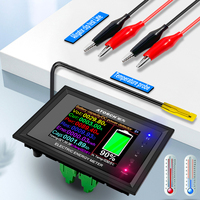 Dt24 hd ips bluetooth display digital dc power app voltímetro amperímetro capacidade da bateria testador medidor de combustível detector tensão