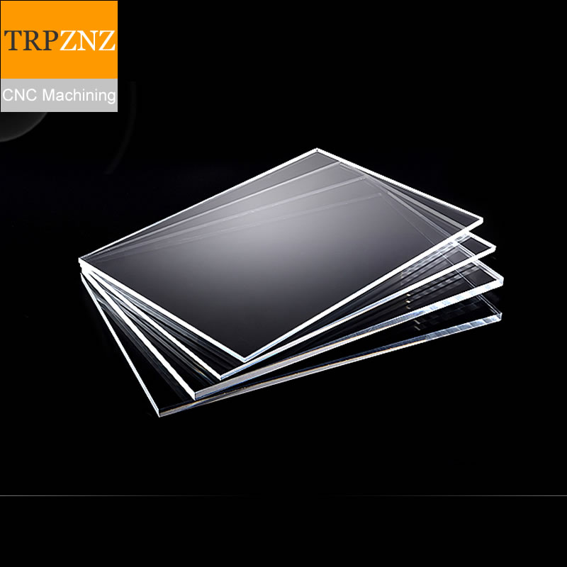 Custom Services,plexiglass Plate Acrylic/PMMA Plate Laser Precision Cutting,130*85mm, 5mm Thickness , Transparent ,  X 1