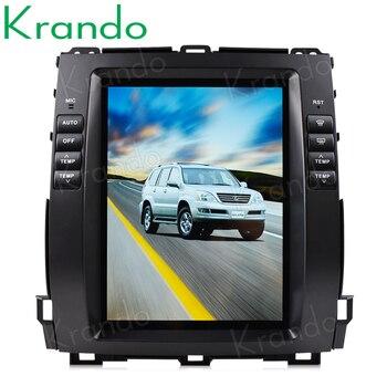 Krando Android 9,0, 10,4 дюйма, автомобильная модель для Toyota Land Cruiser Prado 120 2002-2009/ Lexus GX470, стиль Tesla, IPS