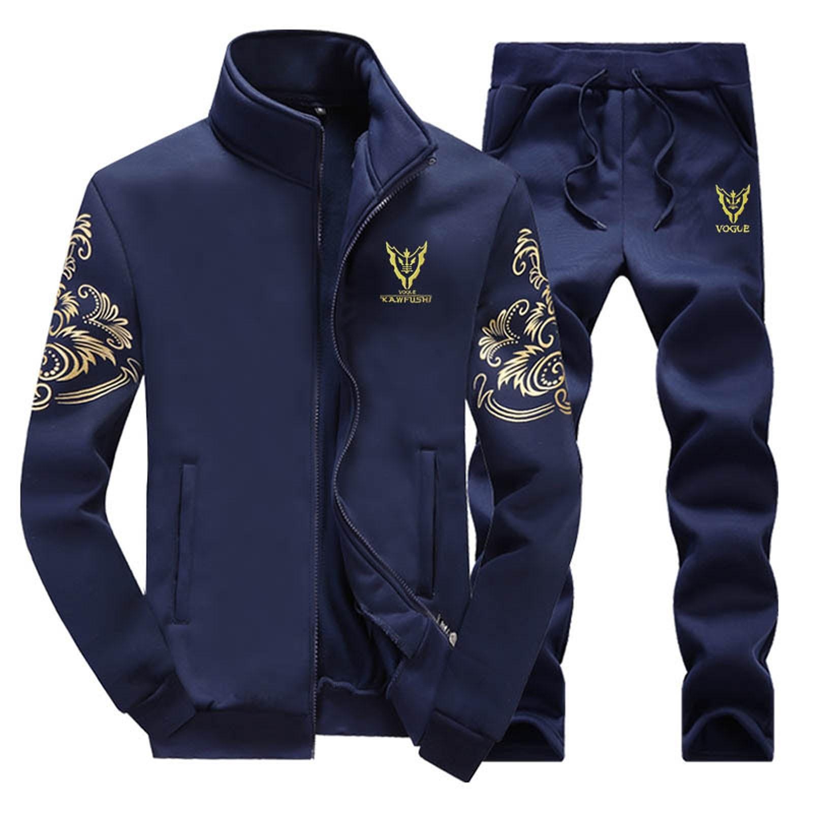 Chaqueta De Los Hombres Men s Winter Sport Wear Tracksuit Clothes Outfits Set Coat long Sweatpants