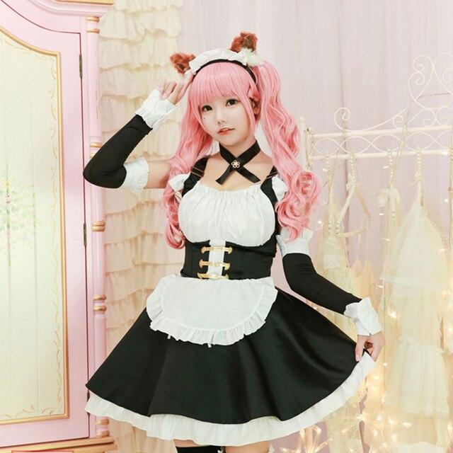 Fate tomamo não mae trajes cosplay lolita vestido de empregada doméstica para meninas mulher empregada doméstica festa trajes palco