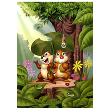 5D Diamond Painting Cross Stitch Cartoon chipmunk Embroidery Square Diy Mosaic Home Decoration
