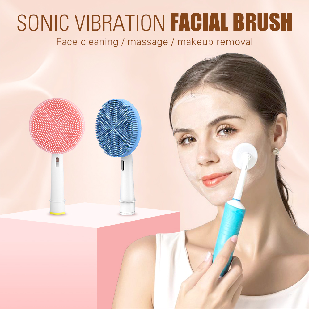 Facial Cleansing Brush Silicone Face Cleanser And Massager Brush Head Compatible With Oral-B Electric Toothbrush