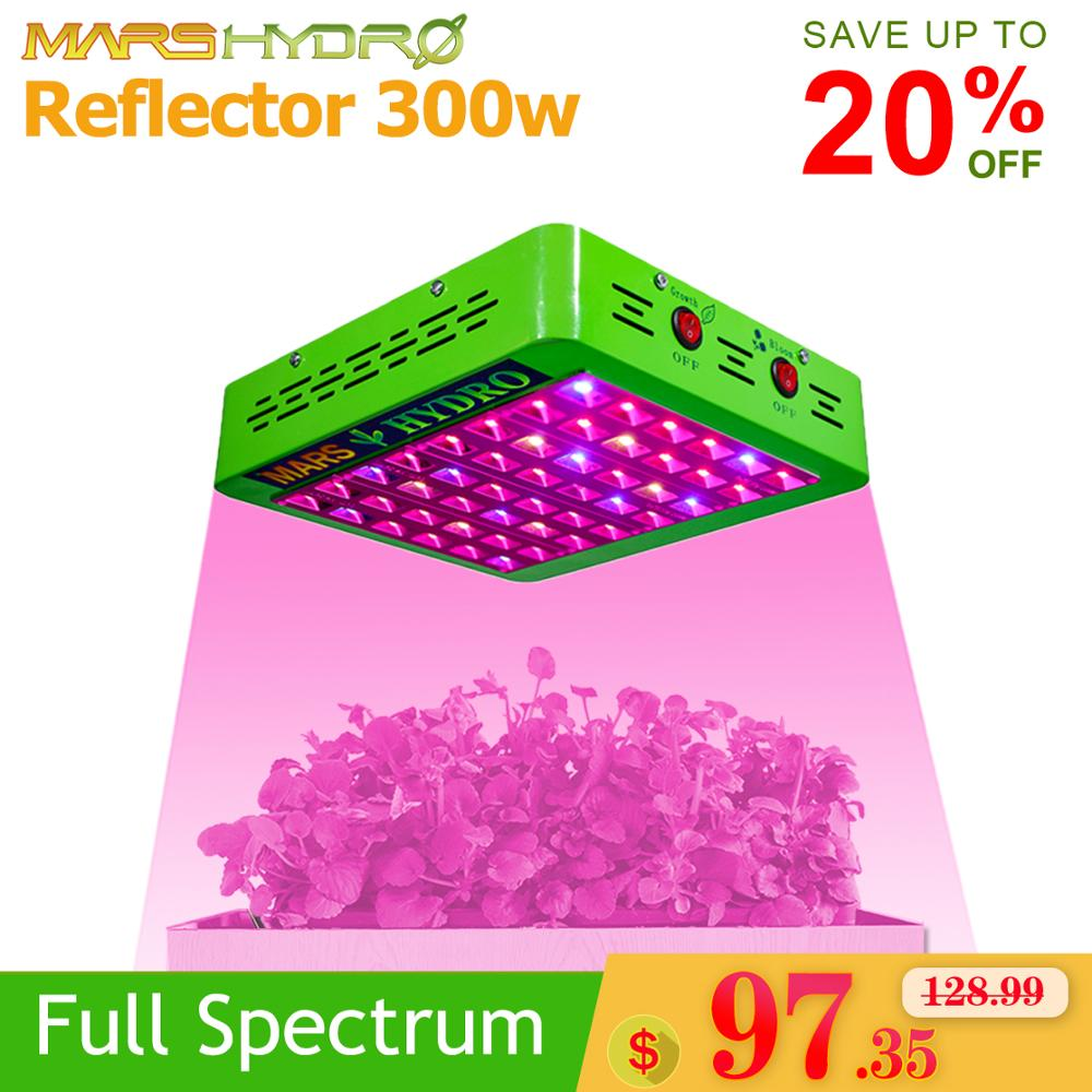Mars Hydro Led Reflector 300W Grow Light Full Spectrum Indoor Hydroponic Systems Veg Flowers Plant Growing Light