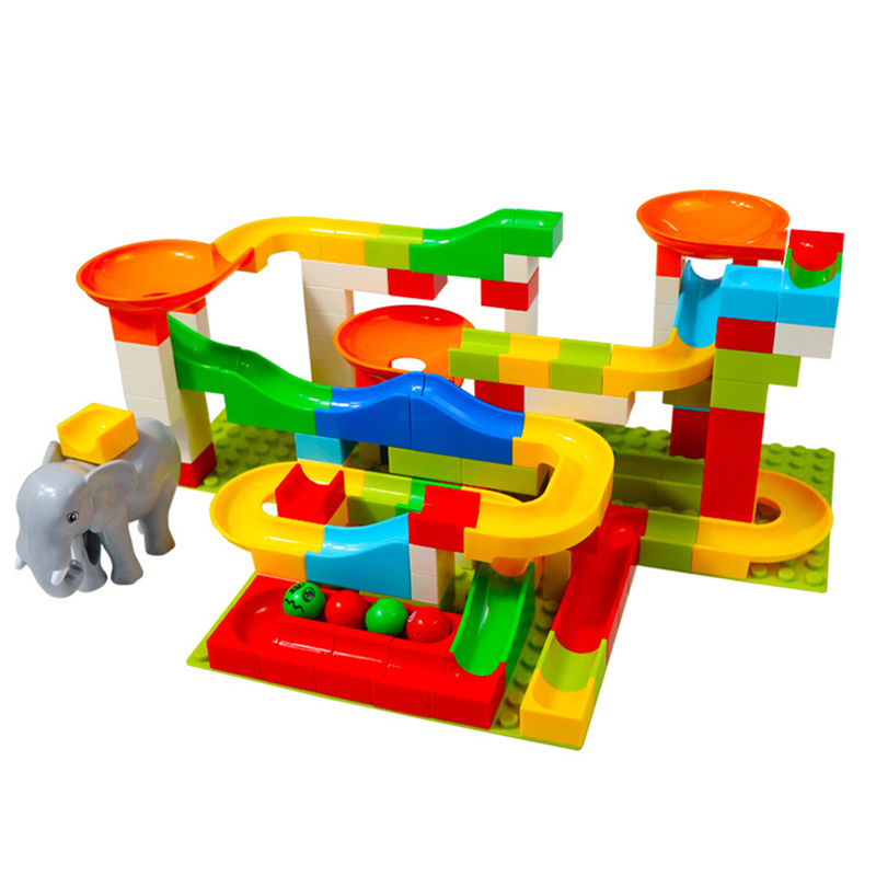 Image 3 - 52 156 pieces educational toys for children Marble construction race maze balls track building blocks large particle assembly bl-in Interconnecting Blocks from Toys & Hobbies