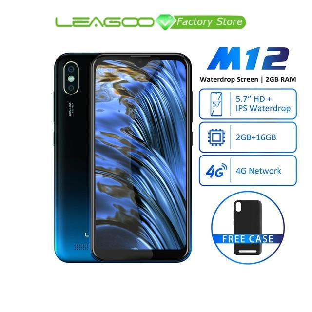 Leagoo M12 אנדרואיד 9 MT6739ww Quad Core 2GB RAM 16GB ROM 5.7 אינץ IPS 3000mAh 5V /1A מטען מהיר פנים מזהה mobilephone