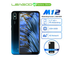 Leagoo M12 Android 9 MT6739ww Quad Core 2GB RAM 16GB ROM 5.7 pouces IPS 3000mAh 5 V/1A chargeur rapide téléphone portable