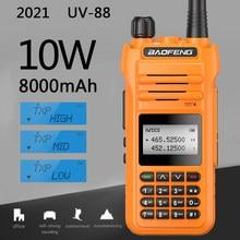 Baofeng UV-88 10w/5w/1w tri-power 10w walkie talkie estação de rádio comunicador uv88 30km transceptor UV-5R UV-82 rádio de banda dupla