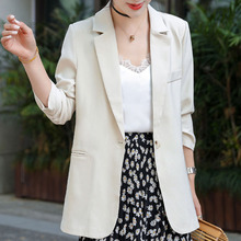 Casual Korean Style White Blazer Jacket Women Office Coat Business Black Pink Sweet Blazers Street Chic Outwear Spring Coats
