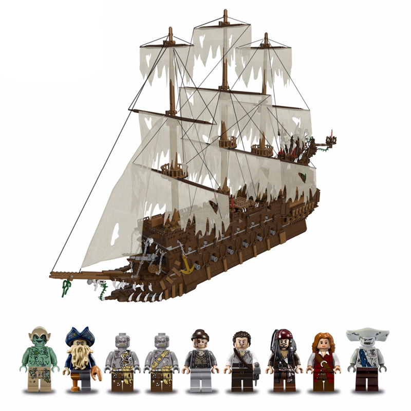 16016 Pirates of the Caribbean Movies Series MOC The Flying Netherlands Building Blocks Bricks Kids Toys Christmas gift 83015 4