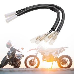 Image 1 - Adaptador de cable de señal de giro, 2 uds., conectores de enchufe para Yamaha YZF R1 YZF 600 R6 YZF R6, conector de 2 pines, accesorios de motocicleta
