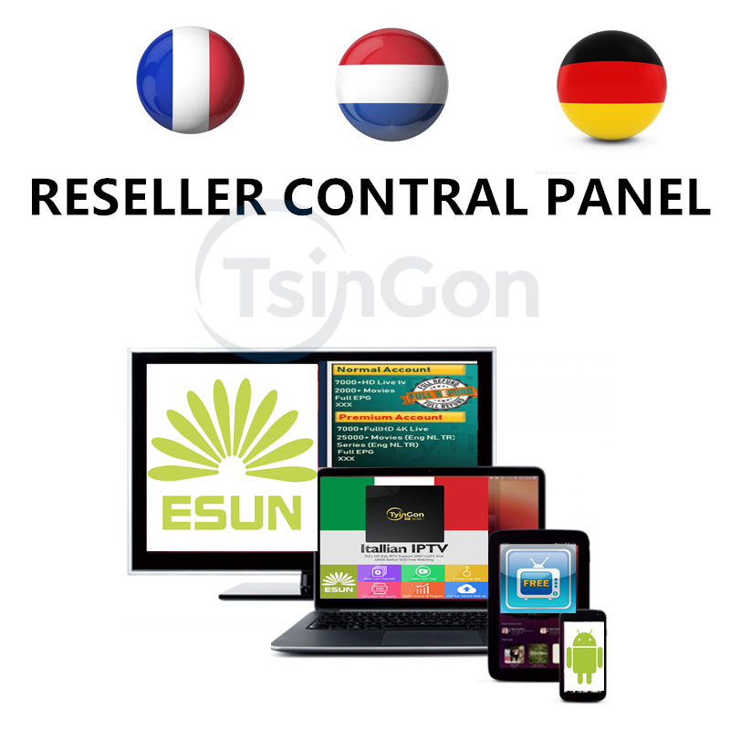IPTV PANEL Reseller control panel Manage System For IPTV Retailer android tv box m3u smart iptv