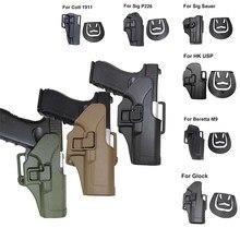 Étui à pistolet tactique militaire pour Glock 17 19 Beretta M9 Colt 1911 HK USP Sig Sauer série P226, étui à ceinture Airsoft